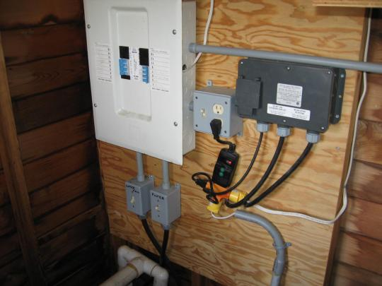 electrical installation in this two year old