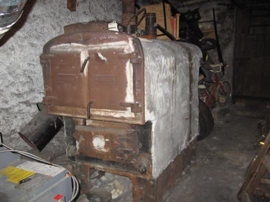 old abandoned boiler